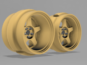 1/64 Scale Work Meister S1 RWB style wheel - 9mm D in Smoothest Fine Detail Plastic