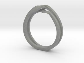 Twist Lasso Ring_03 in Gray PA12: 5 / 49