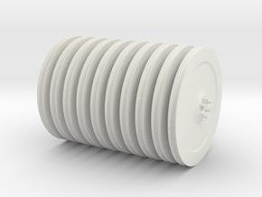 DEMAG cc8800 nylon sheaves 1-12 in White Natural Versatile Plastic