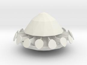 1/100 Scale UFO in White Natural Versatile Plastic
