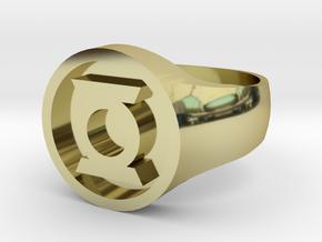 Green Lantern Hal Jordan Ring (Large) in 18k Gold Plated Brass: 10 / 61.5