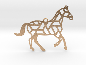 Year Of The Horse Charm in Natural Bronze