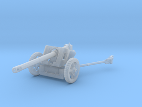 HO WW2 GERMAN 50MM ANTITANK GUN in Smooth Fine Detail Plastic