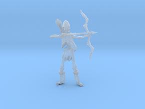 Skeleton archer 54mm in Smooth Fine Detail Plastic
