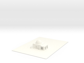 house2 in White Processed Versatile Plastic: Extra Small