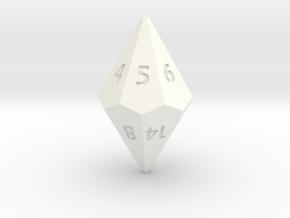 D14 dice in White Processed Versatile Plastic