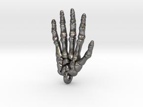Skeletal Hand Keychain/Pendant in Polished Nickel Steel