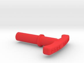 P51 Park Brake handle in Red Processed Versatile Plastic