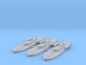1/1250 Pará Class Monitors x3 (120pdr) in Smooth Fine Detail Plastic
