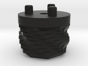 Emek/Etha 2 Bolt Cap - FRACTAL in Black Natural Versatile Plastic