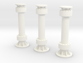 MLP Supports 1:72 Standard in White Processed Versatile Plastic