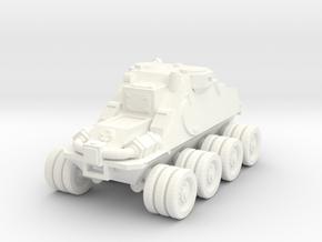 15mm 8x8 scout car in White Processed Versatile Plastic
