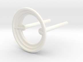B-695-3 Rod & Ring - Classic Stern in White Processed Versatile Plastic