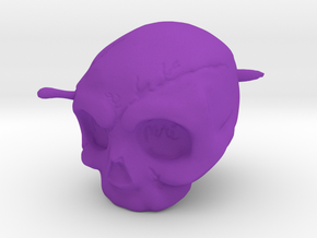 Memento Mori Toy in Purple Processed Versatile Plastic