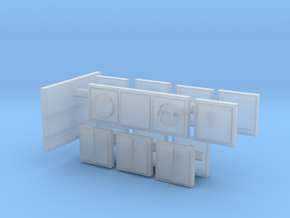 European light switches and plugpoints in 1:12 in Smooth Fine Detail Plastic