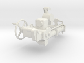 1/5 DKM 3.7cm Flak M42 Single Mount (Mechanics) in White Natural Versatile Plastic