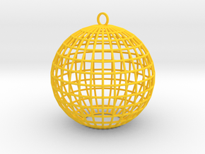 contemporary bauble ornament in Yellow Processed Versatile Plastic