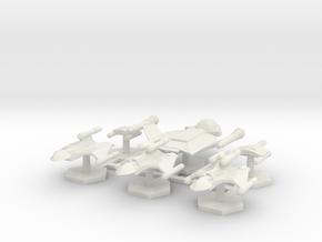 7000 Scale Romulan Fleet Hawk Refit Core Coll. MGL in White Natural Versatile Plastic