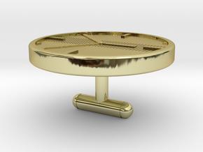 Clock Cufflinks in 18k Gold Plated Brass