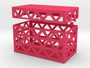 Little Box for Stuff #1 in Pink Processed Versatile Plastic