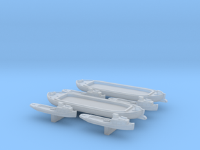 Barges and Launches in Smoothest Fine Detail Plastic: 1:1250