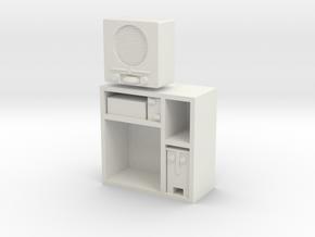 1:16 German DKE 38b Radio in Cabinet in White Natural Versatile Plastic