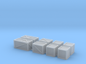 'HO Scale' - (6) Assorted Crates in Smooth Fine Detail Plastic