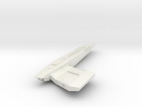 2500 Malachowiski Class left Warp in White Natural Versatile Plastic