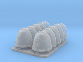 Angels of Shadow V2 Crusade Style Shoulder Pads in Smooth Fine Detail Plastic