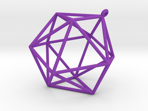 icosahedron ornament in Purple Processed Versatile Plastic