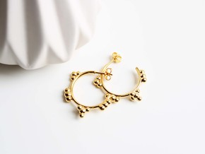 Greenhouse Gas Earrings - Science Jewelry in 14k Gold Plated Brass