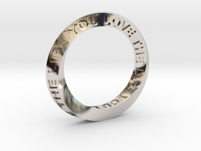 Live The Life You Love - Mobius Ring in Platinum