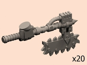 28mm Mordacius chainaxe (+hands) x20 in Smoothest Fine Detail Plastic