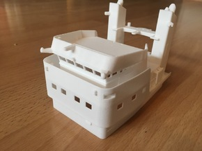 Apache fleet tug, Superstructure (1:144, RC) in White Processed Versatile Plastic