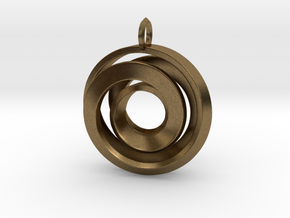 Single Strand Spiral Pendant in Natural Bronze