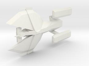 23rd Century Combat 1/2500 Enemy Pirate Vessel in White Natural Versatile Plastic