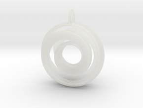 Single Strand Spiral Pendant in Smooth Fine Detail Plastic