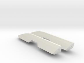 1/1000 Serpens Cruiser Nacelles (part #3 for kit) in White Natural Versatile Plastic