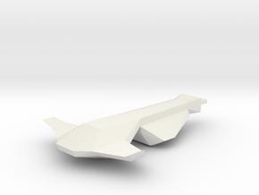 1/1000 Serpens Cruiser Forward Hull (part #1 for k in White Natural Versatile Plastic