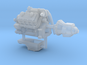 1/87th Engine similar to Cat 3408 in Smooth Fine Detail Plastic