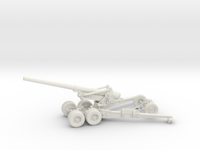 1/56 US 155mm Long Tom Cannon Open Fire Position in White Natural Versatile Plastic