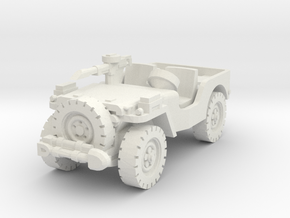 Airborne Jeep (recon) 1/76 in White Natural Versatile Plastic