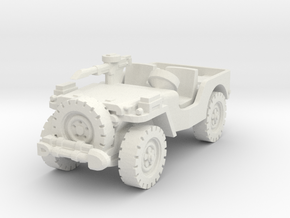 Airborne Jeep (recon) 1/56 in White Natural Versatile Plastic