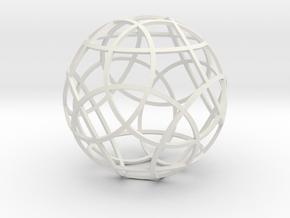 Stripsphere12 in White Natural Versatile Plastic