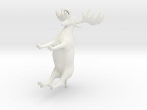 Moose reindeer in White Natural Versatile Plastic