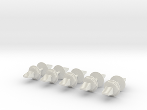 LM Switch 2 Neutral 10 Pack 18mm in White Natural Versatile Plastic