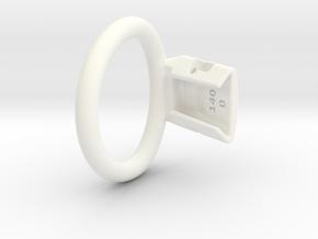 Q4e single ring 44.6mm 0mm gap in White Processed Versatile Plastic