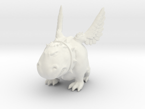 cute monster in White Natural Versatile Plastic