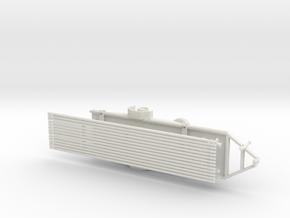 1/50th Drill rig rod trailer  in White Natural Versatile Plastic