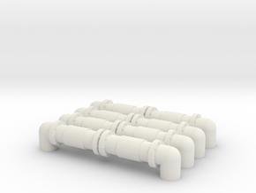 Industrial Pipeline (x4) 1/200 in White Natural Versatile Plastic